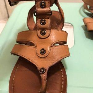 Gianni bini leather brown sandals